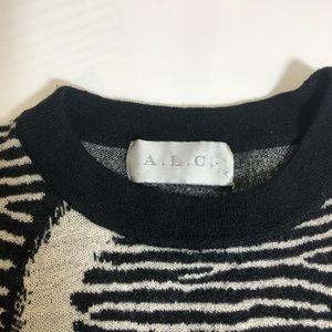 A.L.C. Sweaters - A.L.C Zebra Animal Print Wool Sweater